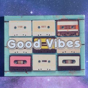 Good Vibes Retro Cassette Tape Canvas Art